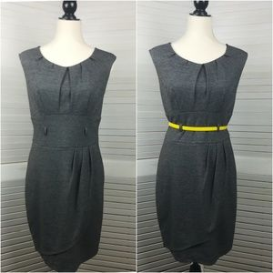 Carole Little Gray Sheath Dress